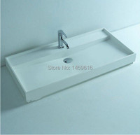 BATHROOM 895MM WALL HUNG OR COUNTER TOP BASIN VANITY STONE SOLID SURFACE 2010
