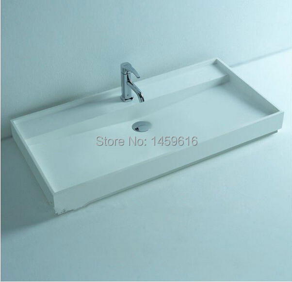 BATHROOM 895MM WALL HUNG OR COUNTER TOP BASIN VANITY - STONE - SOLID SURFACE 2010