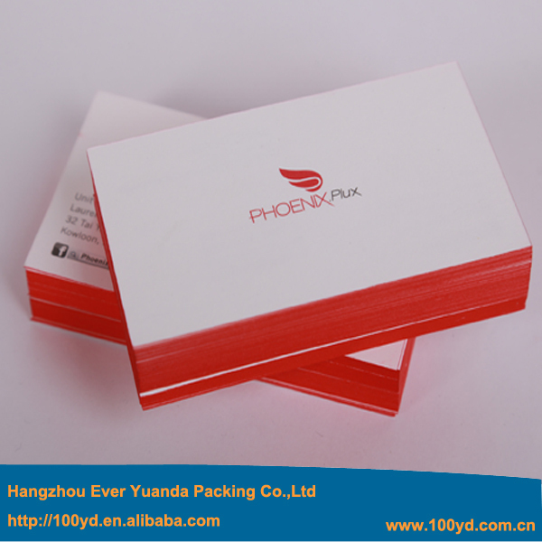 popular red edge color business cards paper custom