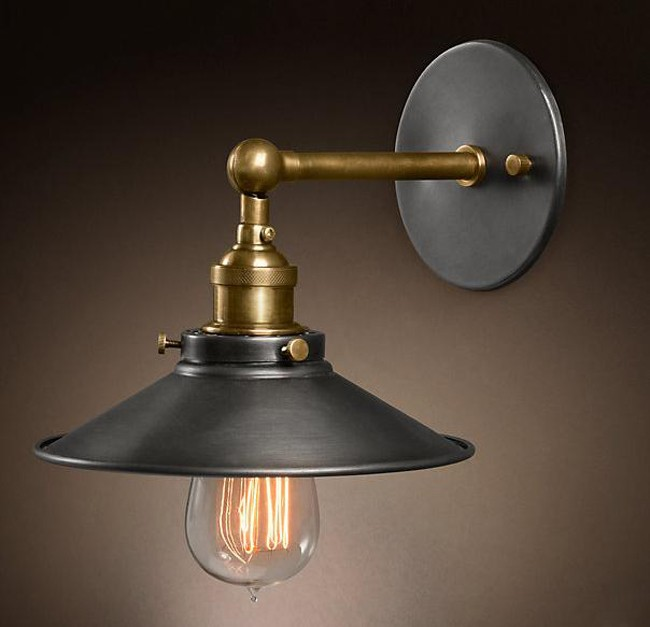 Loft Vintage Nostalgic Industry Lustre Ameica Iron Edison Wall Sconce Lamp Mirror Beside Bedroom Home Decor Modern Lighting 24CM loft vintage nostalgic industrial lustre water pipe edison wall sconce lamp resturant hotel bar stair home decor modern lighting