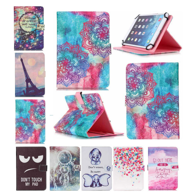 10 Universal bag Flip PU Print Leather Stand Protector Cover Case Skin For Wolder miTab VERMONT 10.1 inch tablet PC+3 GIFTS