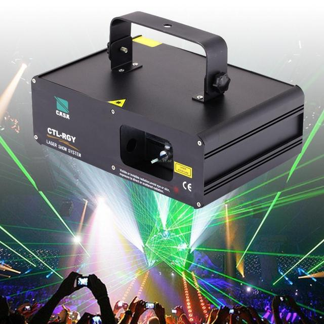 (Ship from US) RYG Len Beam 310mW DJ Laser Light 9CH DMX Stage Disco Club Party Show Cyber Mon for Xmas Carnival Party 5000 hr