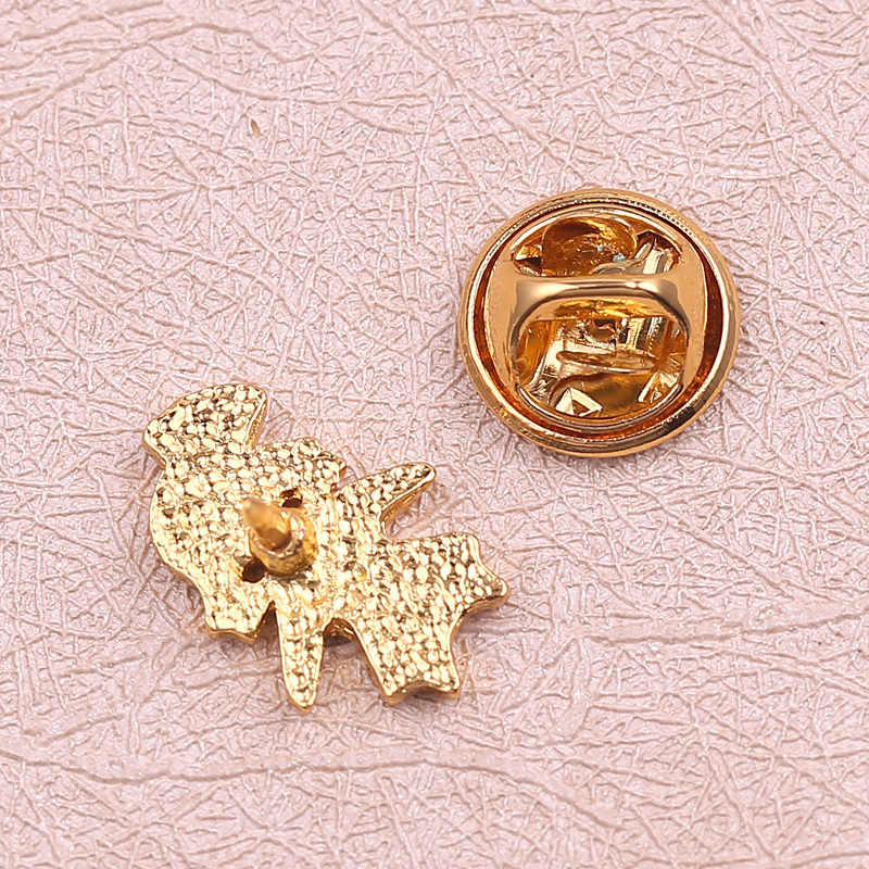 Perawat Lucu Karakter Bros & Pin Warna Emas Jantung Enamel Kerah Pin Wanita untuk Dokter Perawat Medis Perhiasan Gaun Aksesoris