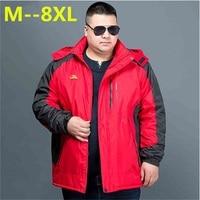 2017 NEW 8XL 7XL 6XL Winter Thick Padded Parka Men Jacket Coat Russian Wadded Casual Warm Snow Windbreaker Overcoat Male Jackets