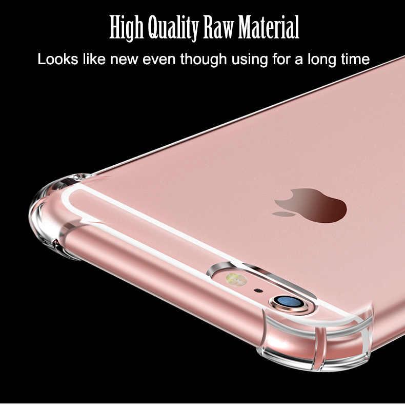 Супер Противоударный прозрачный мягкий чехол для iPhone X 6 s 6 S 7 8 плюс 6splus 7 плюс 8 плюс силиконовый роскошный сотовый телефон задняя крышка