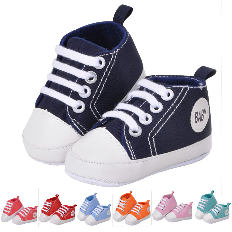 baby shoes toddler Soft Bottom Fashion canvas boys girls Shoes moccasin Newborn cartoon climb First Walkers shoes (3-18M)