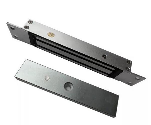 Livraison gratuite, serrure magnétique intégrée de 280 kg, utilisation pour porte en bois/porte coupe-feu/porte en métal etc. Force de maintien: 280 kg (600bs)