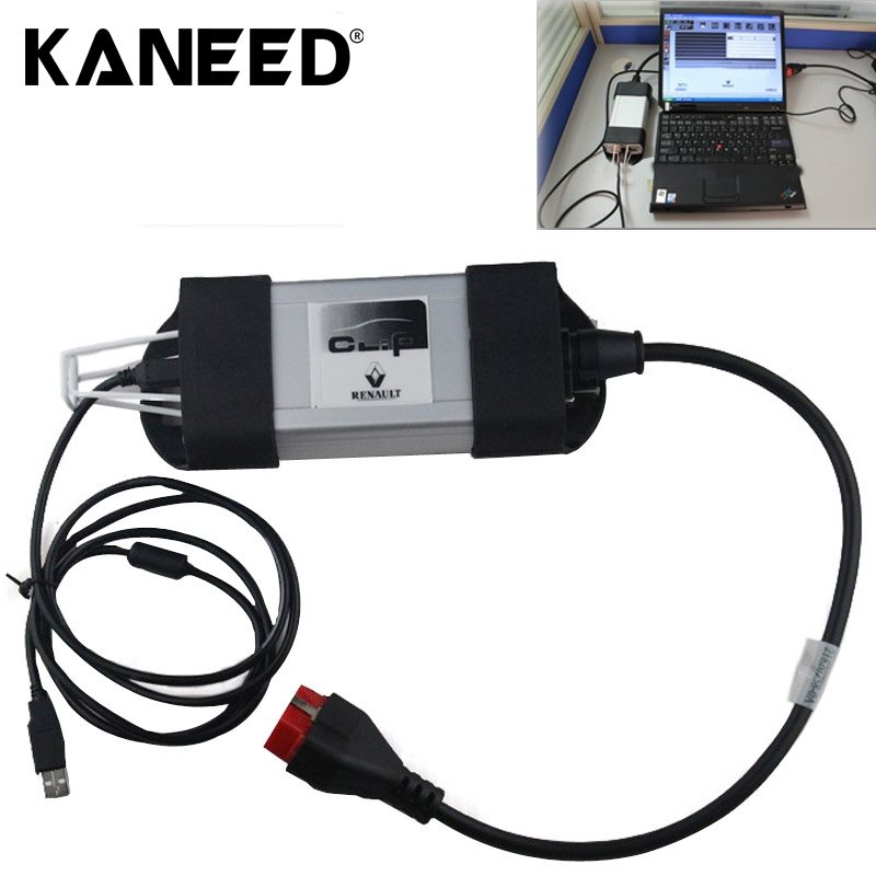 For Renaul diagnostic interface tool full chips Renault CAN Clip V143 Latest Version diagnostic Interface Tool Multi-language