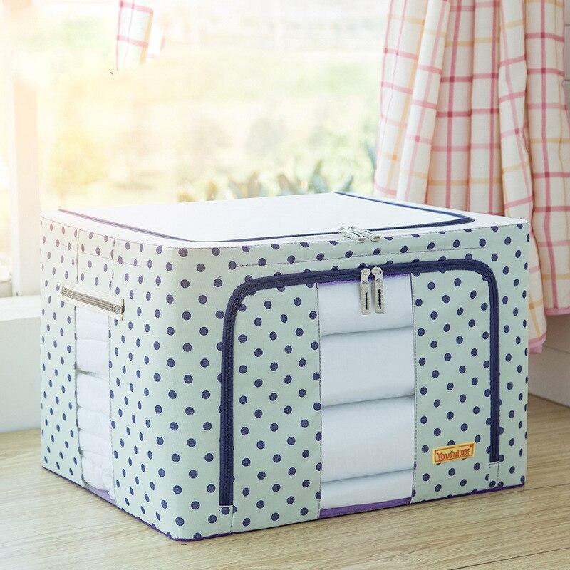 24L Wasserdichte Oxford Tuch Stahl Lagerung Box Faltbare Lagerung Box Kleidung Quilt Lagerung Tasche Veranstalter für 40*30*20 cm FZ-in Aufbewahrungsboxen & Behälter aus Heim und Garten bei  Gruppe 3