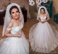 Vintage Country Princess Wedding Dresses 2017 Off-shoulder Arabic Church Sweep Train Wedding Gowns chinese shopping online