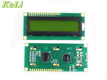 TIEGOULI 10PCS/LOT LCD1602 LCD 1602 yellow / blue screen with backlight LCD display 1602A-5v