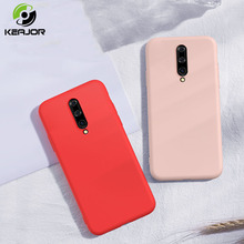 Keajor Case For Oneplus 7 Pro Case Luxury Liquid Silicone Soft Cover TPU Armor Baby Skin Bumper For One plus 7 Pro Cover Funda