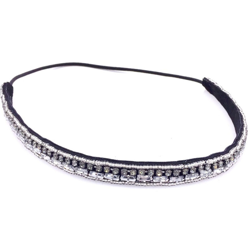 Vintage Bohemian Ethnic Tribal Crystal Stone Seed Beads Handmade Elastic Headband Hair Band Design Hair Accessories vintage bohemian ethnic colored tube seed beads flower rhinestone handmade elastic headband hair band hair accessories