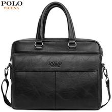 VICUNA POLO High Capacity Leather Laptop Briefcase Bags For Men Casual Business Man Bag Cross Body Messenger Shoulder Bags