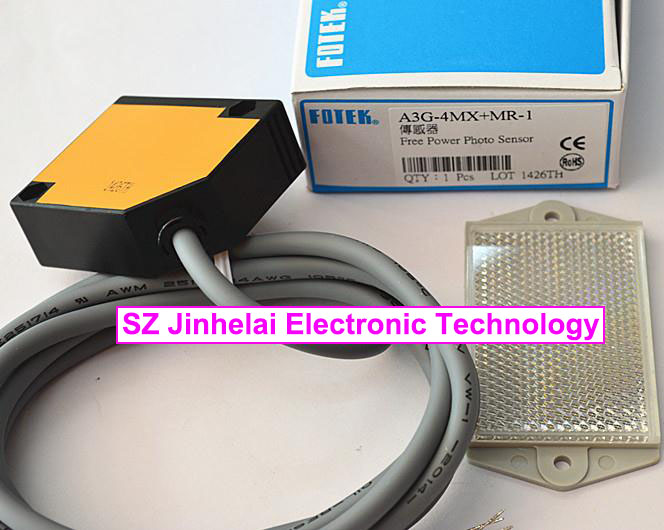 100% New and original FOTEK Photoelectric switch  A3G-4MX+MR-1  Free Power Photo Sensor ss94a1f sensor mr li