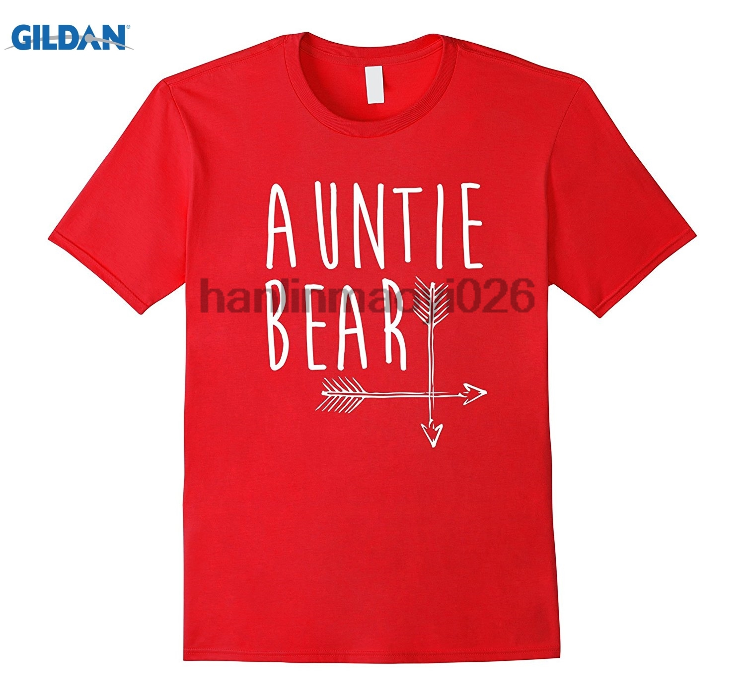 GILDAN Auntie Bear T-Shirt Family Portrait With Mama and Papa Bear