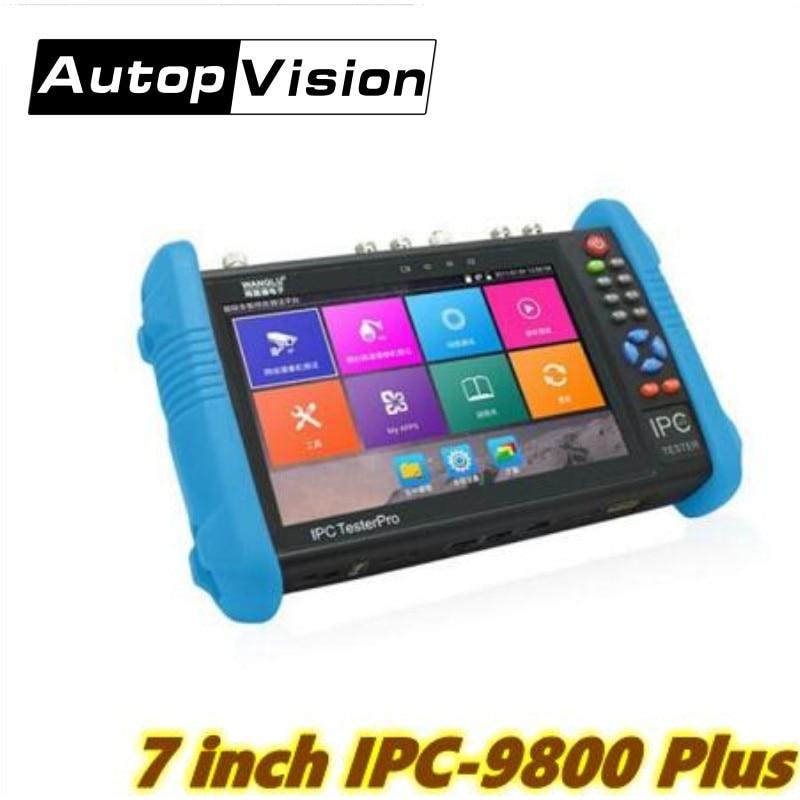 9800 Plus 4K H.265/H.264 CCTV Tester Monitor 8MP CVI TVI AHD SDI Analog IP Camera Tester(multimeter,TDR,Cable Tracer Optional)