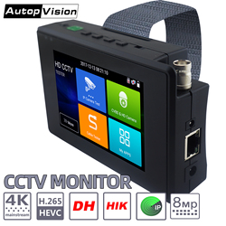 IPC1800plus 1080P 5-IN-1 TVI AHD CVI Analog IP CCTV Camera Tester Build in Battery Security Tester Monitor Video Audio Test PTZ