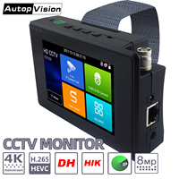 IPC1800plus 1080P 5 IN 1 TVI AHD CVI Analog IP CCTV Camera Tester Build in Battery Security Tester Monitor Video Audio Test PTZ