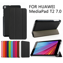 Folio de la cubierta del caso para Huawei MediaPad T2 7.0 BGO-DL09 BGO-L03 tablet cubierta protectora de la piel + regalo libre