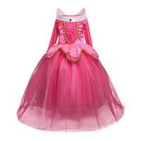 Teenage Girl Dress Sleeping Beauty Christmas Costume For Kids Girls Long Tulle Aurora Fancy Dress Ball