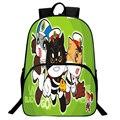 Cartoon Cat Backpack Boys Girls Anime Sheriff Black Cat School Cute Shoulder Bag Nylon Rucksack Student Laptop Satchel Back Pack
