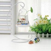 O. RoseLif креативный Адмиралтейский аквариум Железный Держатель Гидропоника стеклянная ваза для украшения дома и офиса