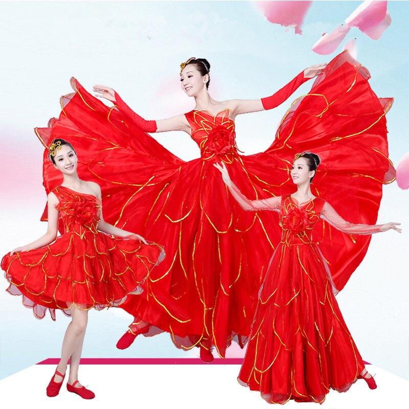 360 Graden Vrouwen Mouwloze Spaanse Flamenco Kostuum Stierengevecht Dans Jurk Lange Gewaad Fille Rood Flamenco Jurken Voor Meisjes L226