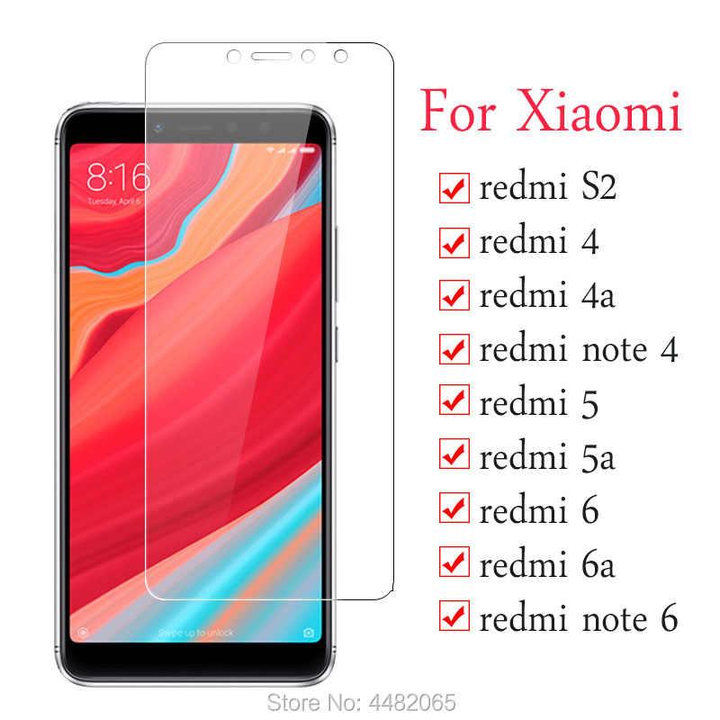 ป้องกันแก้วสำหรับ Xiaomi Redmi หมายเหตุ 4 6 4a 5a 6a S2 4 5 6 Ksiomi กระจกนิรภัย xiomi note4 a4 a5 a6 หน้าจอ Protector