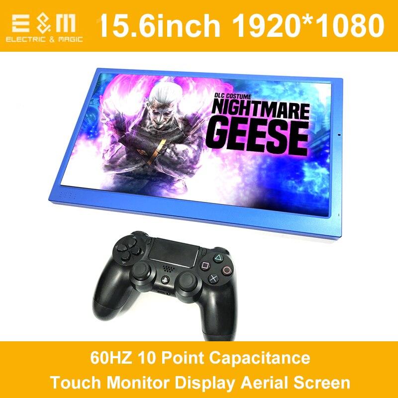 E&M 15.6 Inch Capacitive Touch 1920*1080 IPS Display LCD Screen Kit Monitor Set For Raspberry Pi Car Windows HDMI VGA USB