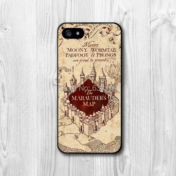 Atacado e varejo harry potter marauders map capa para iphone 4 4S 5 5S 5c 6 6 s 6 MAIS 6 s mais 7 7 MAIS