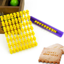 1pc 100% foodgrade plastic DIY alphabet letter and symbol biscuit cookie decoration tool set,letter press set  free shipping