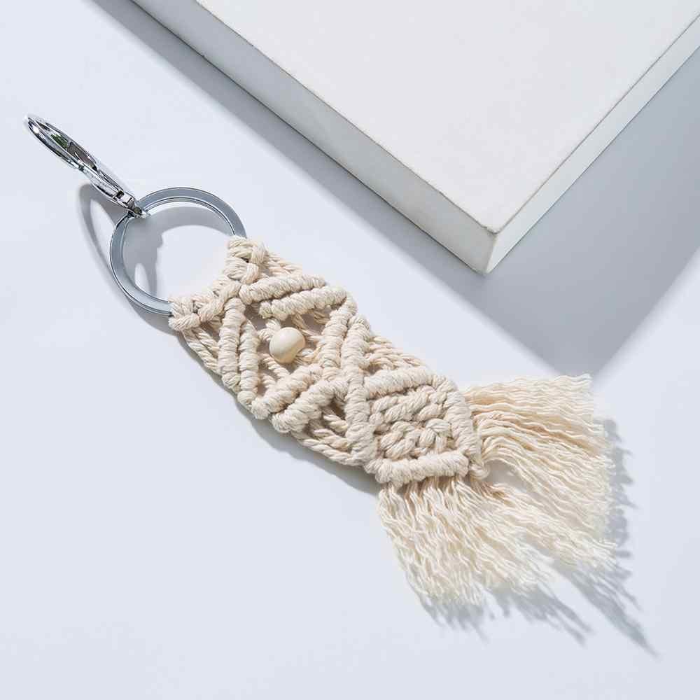 Artilady hawaii tassel chaveiros para mulheres boho chave titular chaveiro macrame saco charme jóias presente para amigos transporte da gota