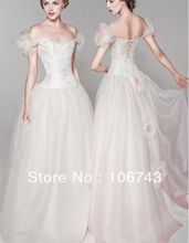 free shipping 2013 new style hot fashion Sexy wedding sweet princess Custom size&color handmade flowers bridal dress