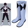 Mighty Morphin Power Rangers Adam Park Cosplay Costume Shoes Pu Leather Boots Shoes New Hand Made For Women Men