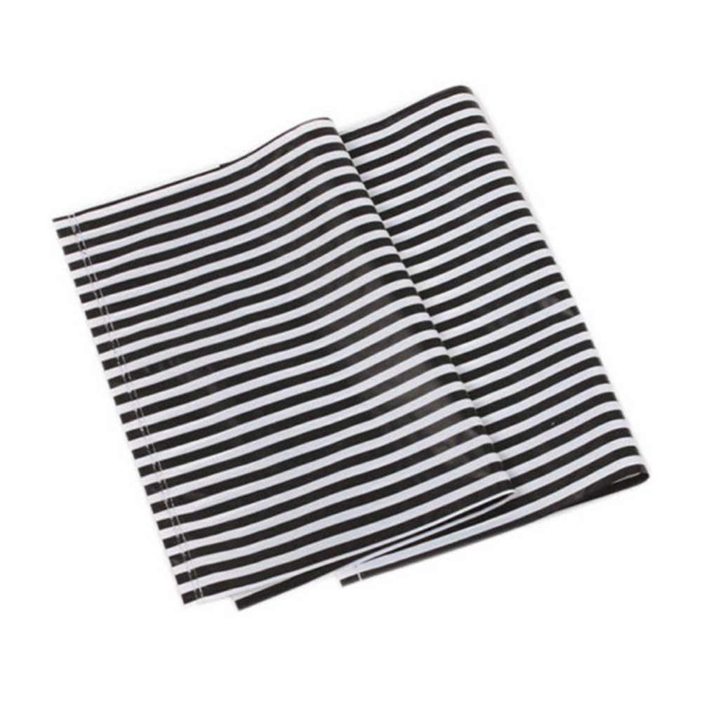New 100Pcs Lots Plastic Carrier Bags White&Black Stripe Design Boutique Package For Festival Wedding Gift 20x14.5cm