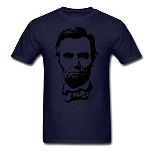 2017 Abraham Lincoln Silhueta T-Shirt dos homens 100% algodão casuais populares masculino tops t hot vender moda Camiseta O Pescoço
