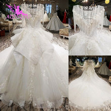 AIJINGYU Ruffle Vestidos de Casamento Romântico vestido de Noiva Para Venda No Reino Unido Fabricante do Vestido de Casamento Suzhou Branco Simples Vestido de Renda de Manga Comprida
