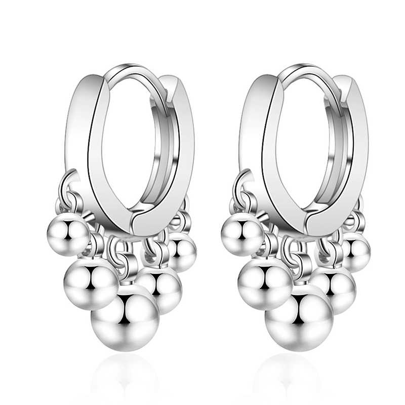 XIYANIKE 925 Sterling Silver New Simple Fashion Beads Small Earrings design creative jewelry For Women Gift Customized