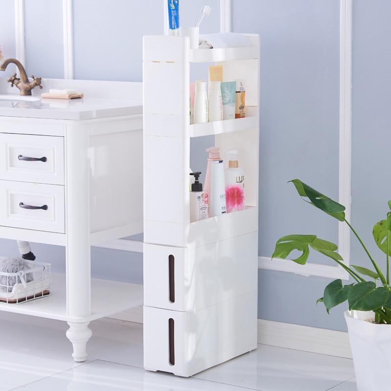Home küche bad wohnzimmer schublade racks schlitz 17 cm breit schrank weiß ZP01161905 - 3