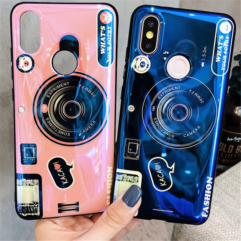 For Pocophone F1 Cute Blu-ray Camera Pattern Case For Xiaomi Redmi A1 A2 MIX MAX 2 2S 3 Note 3 4 4X 5 5A 5X 6 6A 6X 7 Pro Cover