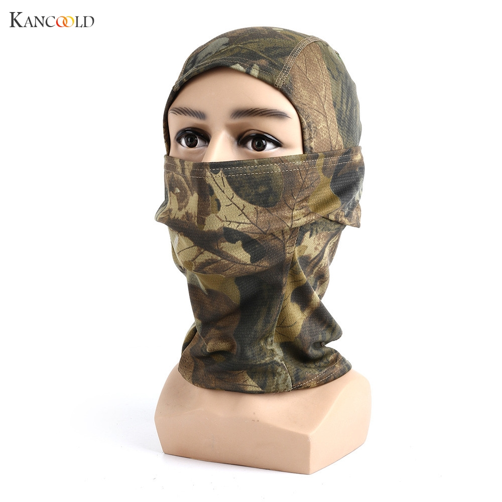2017 Camo Balaclava Tactical Airsoft Hunting Outdoor Camouflage Army Cycling Motorcycle Cap Hats Full Face Mask Headgear new GBY