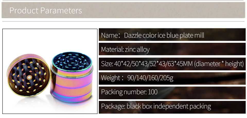 Ice Blue Grinder Hot New Crusher Weed Tobacco Grinder
