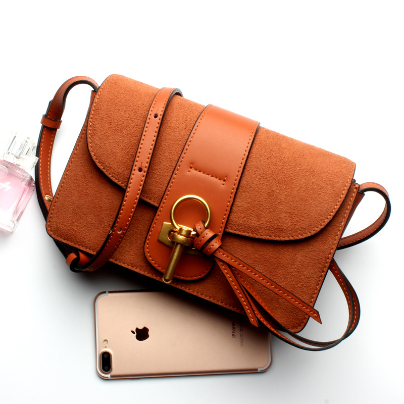 2017 New Style Lady Genuine Leather Single Shoulder Small Bag Retro Tide Flap Genuine Leather Female Simple Camera Bag