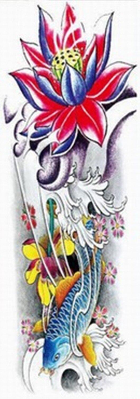 Wholesale New Large Waterproof Full Arm Tattoo Leg Sticker Tatoo Sleeves On Body Art Temporary MB-02