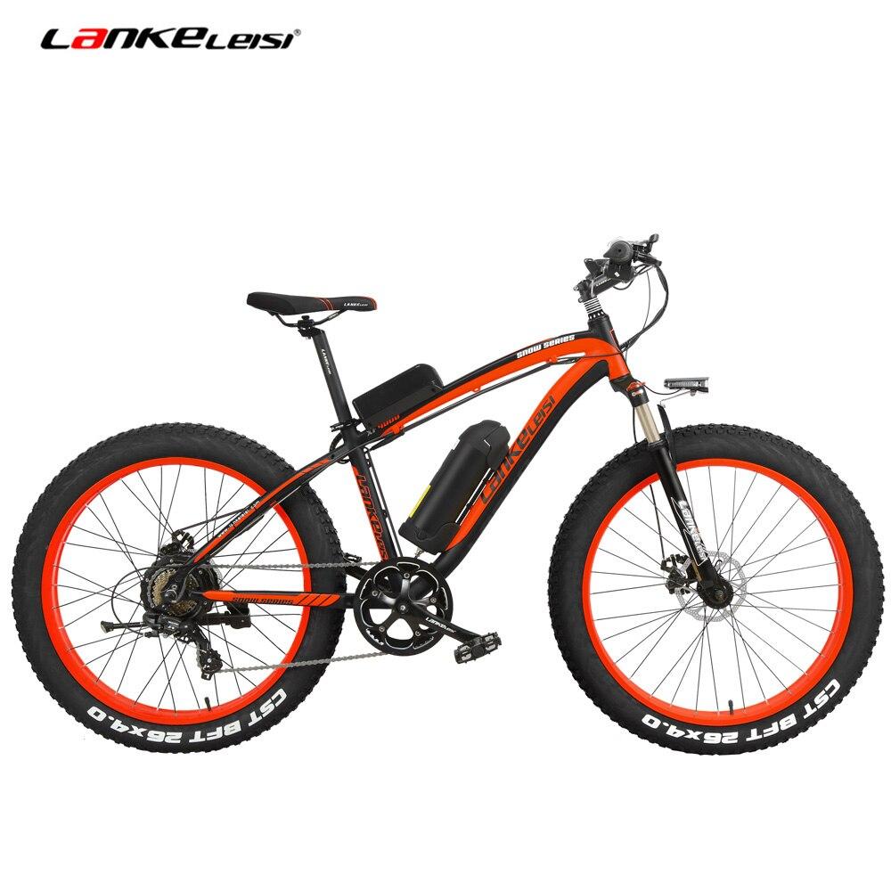 26 pouces électrique VTT hommes Cruiser cyclisme Roadbike 4.0 gros pneu neige Bkie 1000 W forte puissance 48 V Lithium-Ion batterie