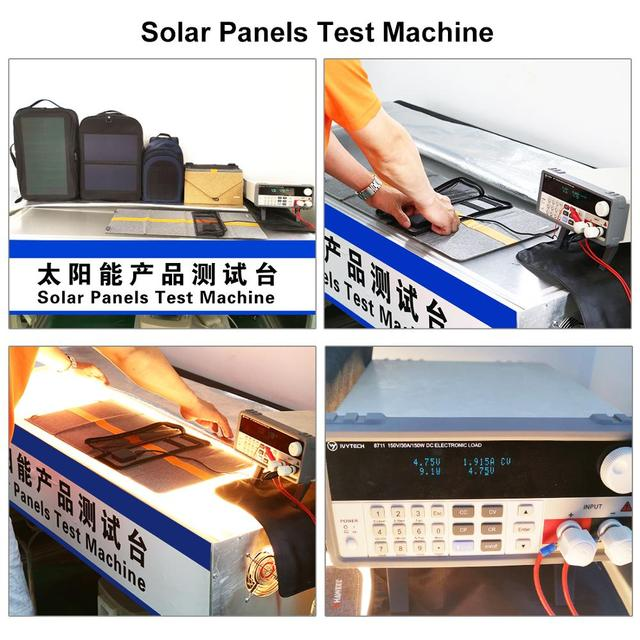 HAWEEL 12W Flexible Solar Panel Power Backpack  5