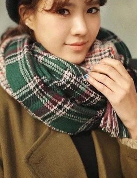 Оптовая 2016 новый зимний шарф женщины англия классический плед шарфы женщины шерсть плед шарфы платки и шарфы пашмины