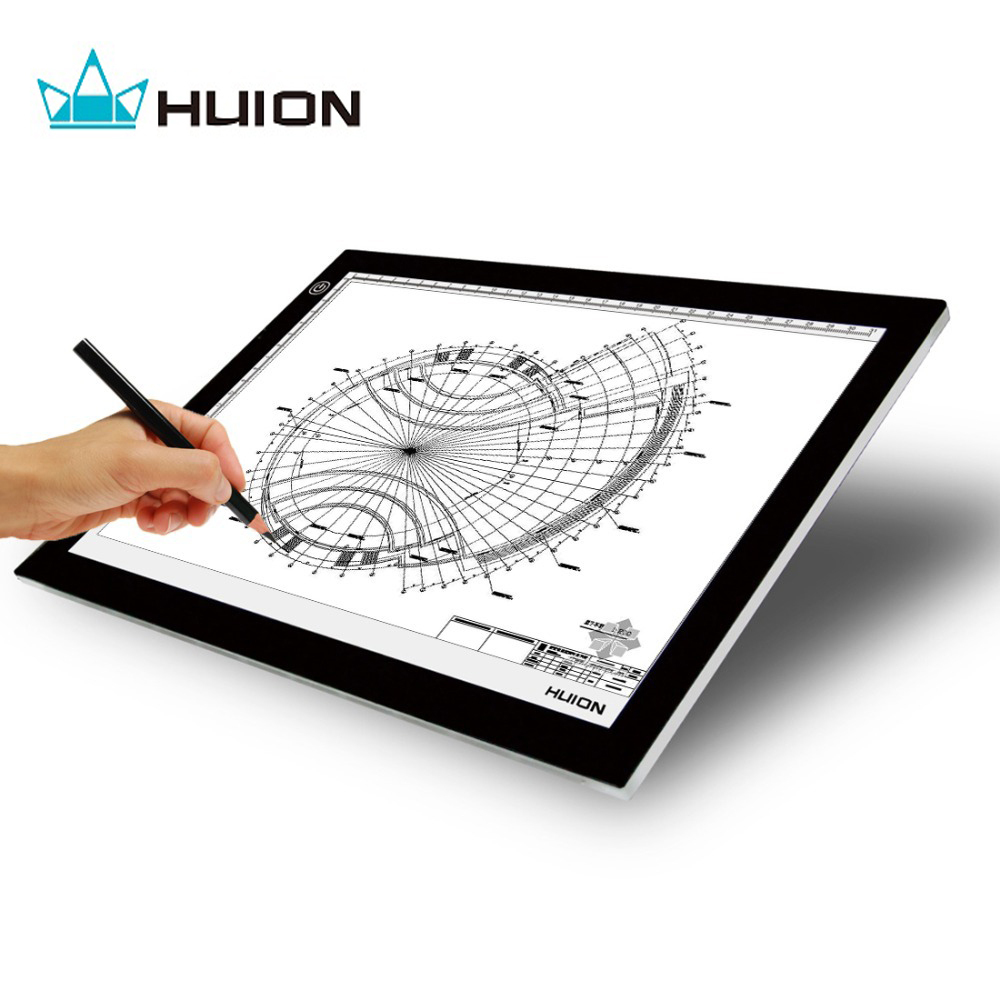 Craft light box for tracing - Aliexpress Com Buy Huion Ultra Thin And Light 17 7 Inches Led Artcraft Tracing Light Pad Light Box With Usb Cable L4s From Reliable Box Light Suppliers On