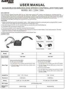 Image 5 - SURPASSHOBBY KK 방수 35A ESC 전기 속도 컨트롤러 RC 1/16 1/14 RC 자동차 2838 2845 브러시리스 모터